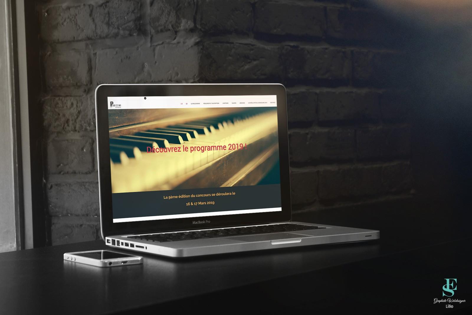 Création du site de Pianissima International