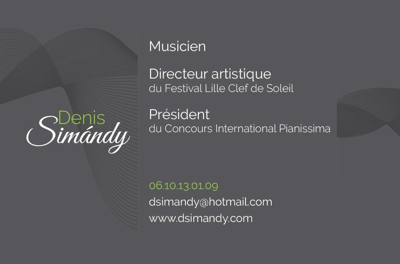 Carte de visite Denis Simándy