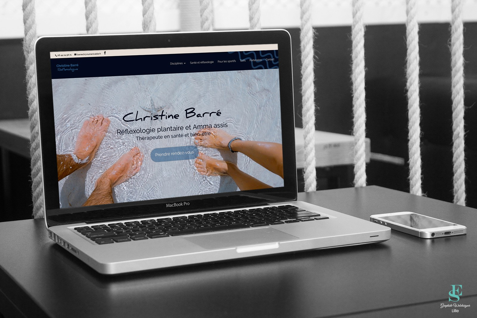 Site web Christine Barré, réflexologue