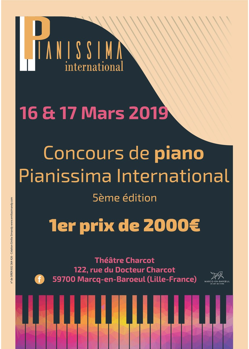Flyer concours Pianissima International 2019