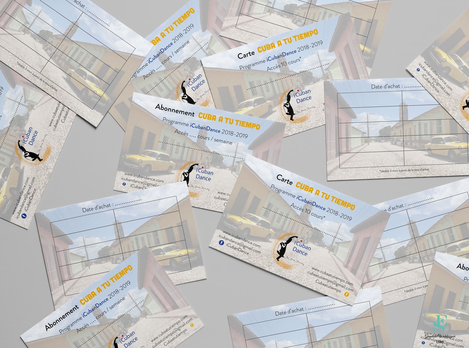 Cartes d'abonnements iCubanDance