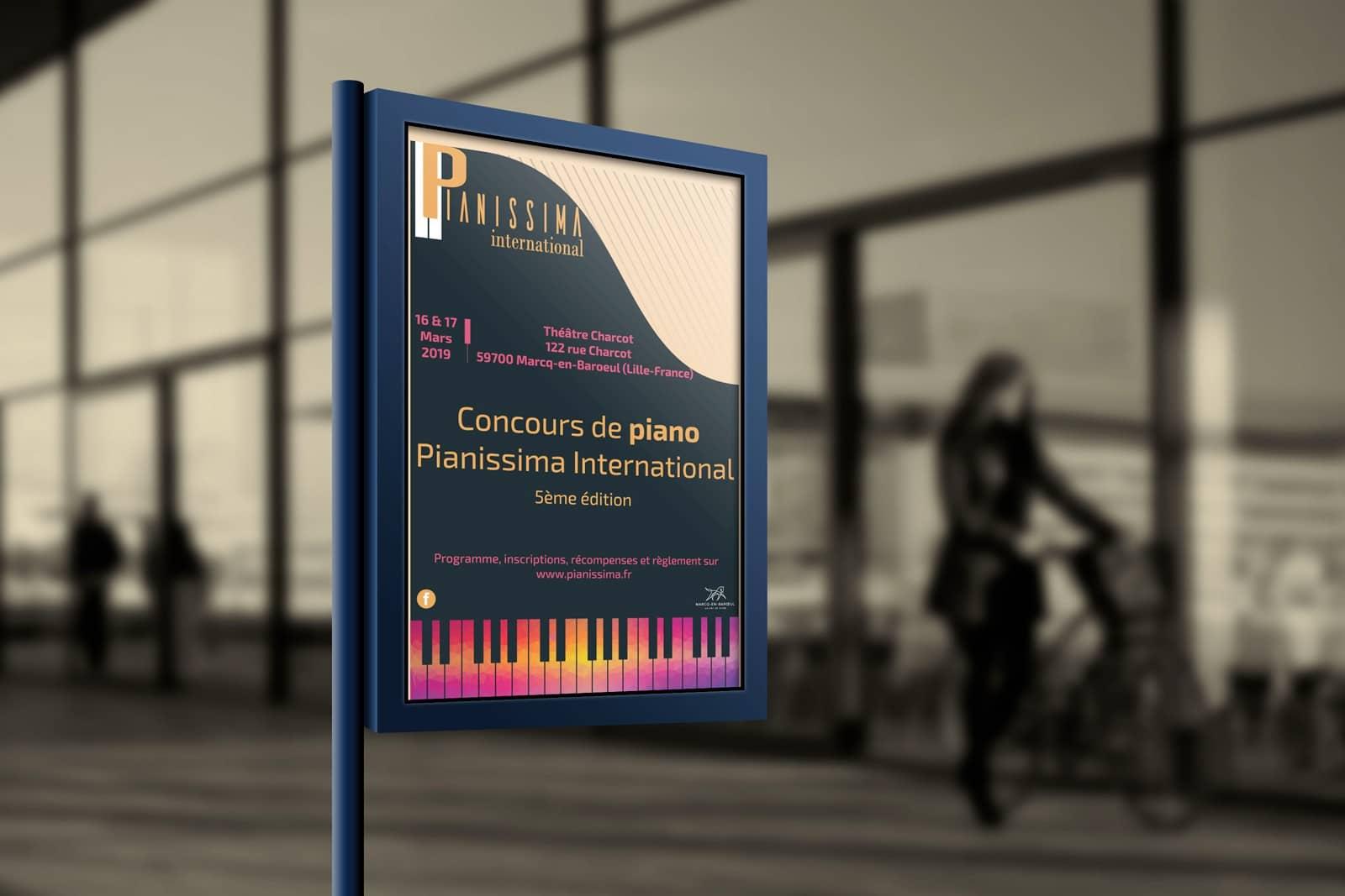 Affiche du concours Pianissima International 2019