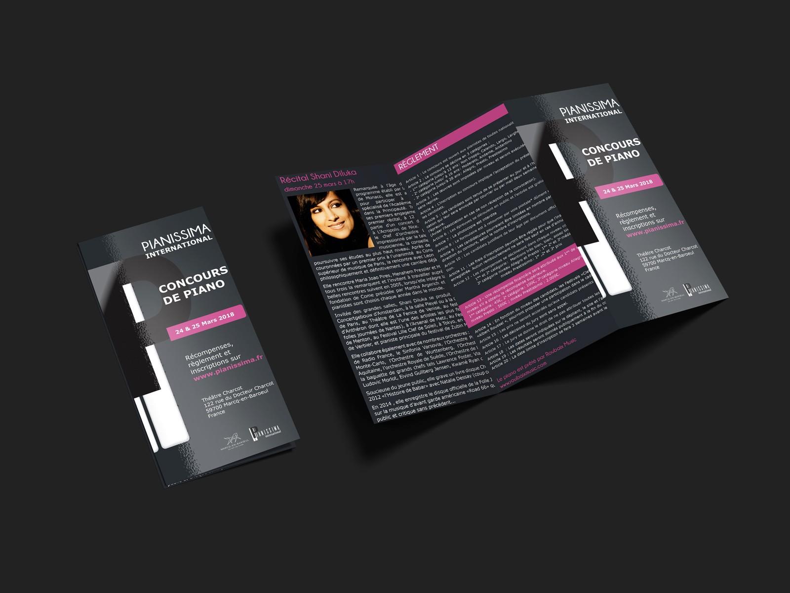 Plaquette du concours Pianissima International 2018