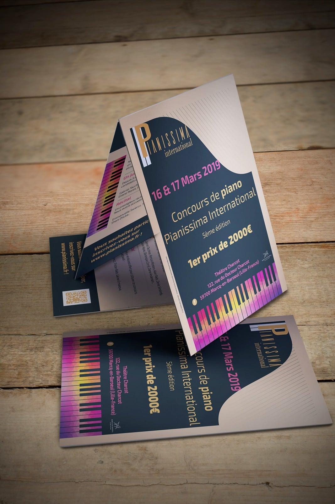 Flyer du concours Pianissima International 2019