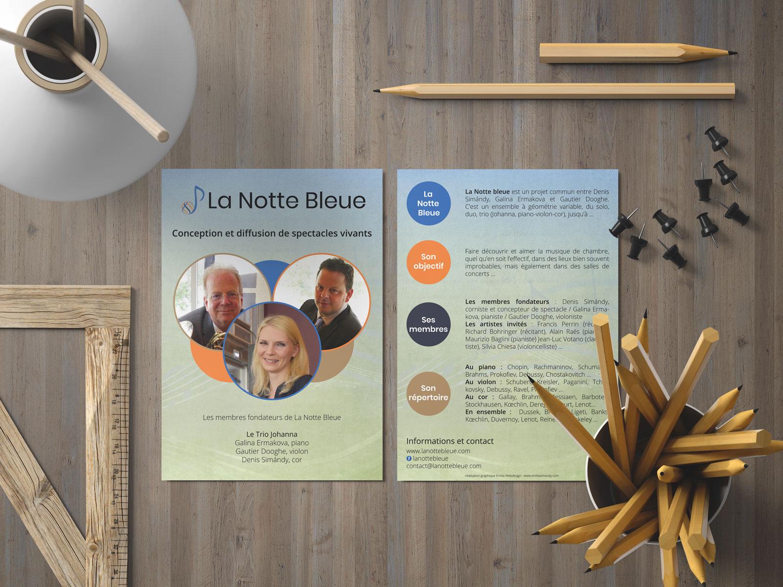 Flyer de La Notte Bleue