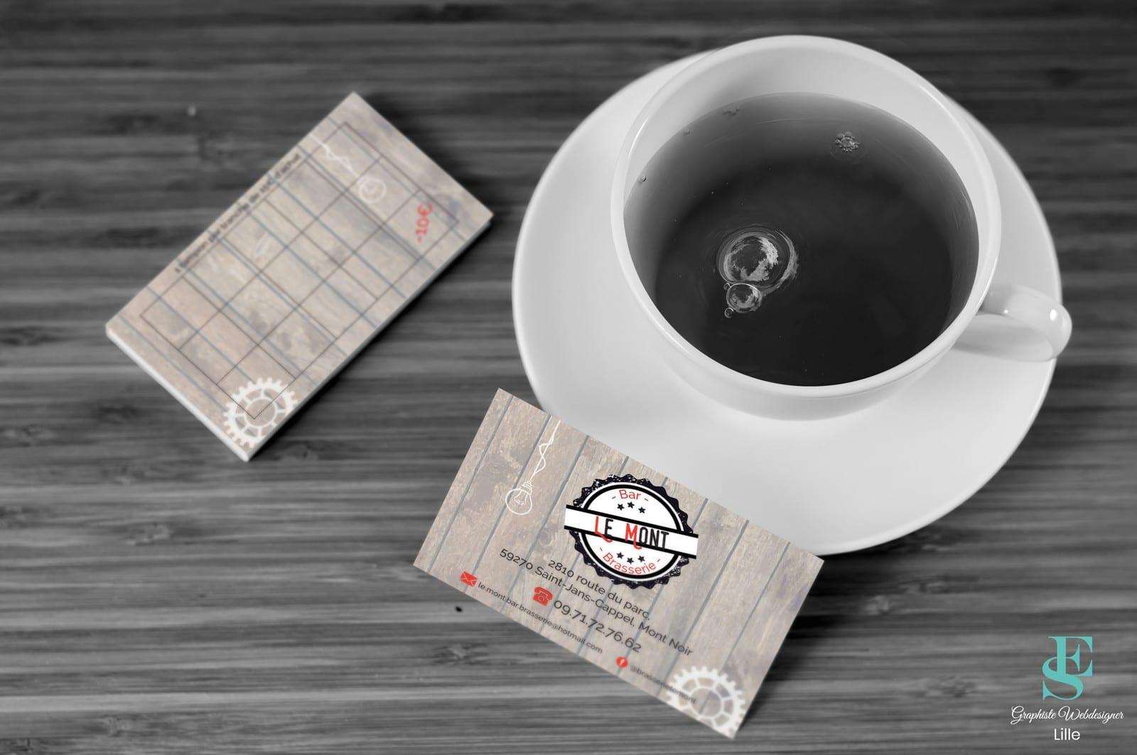 Carte de visite/fidélité Bar Brasserie Le Mont