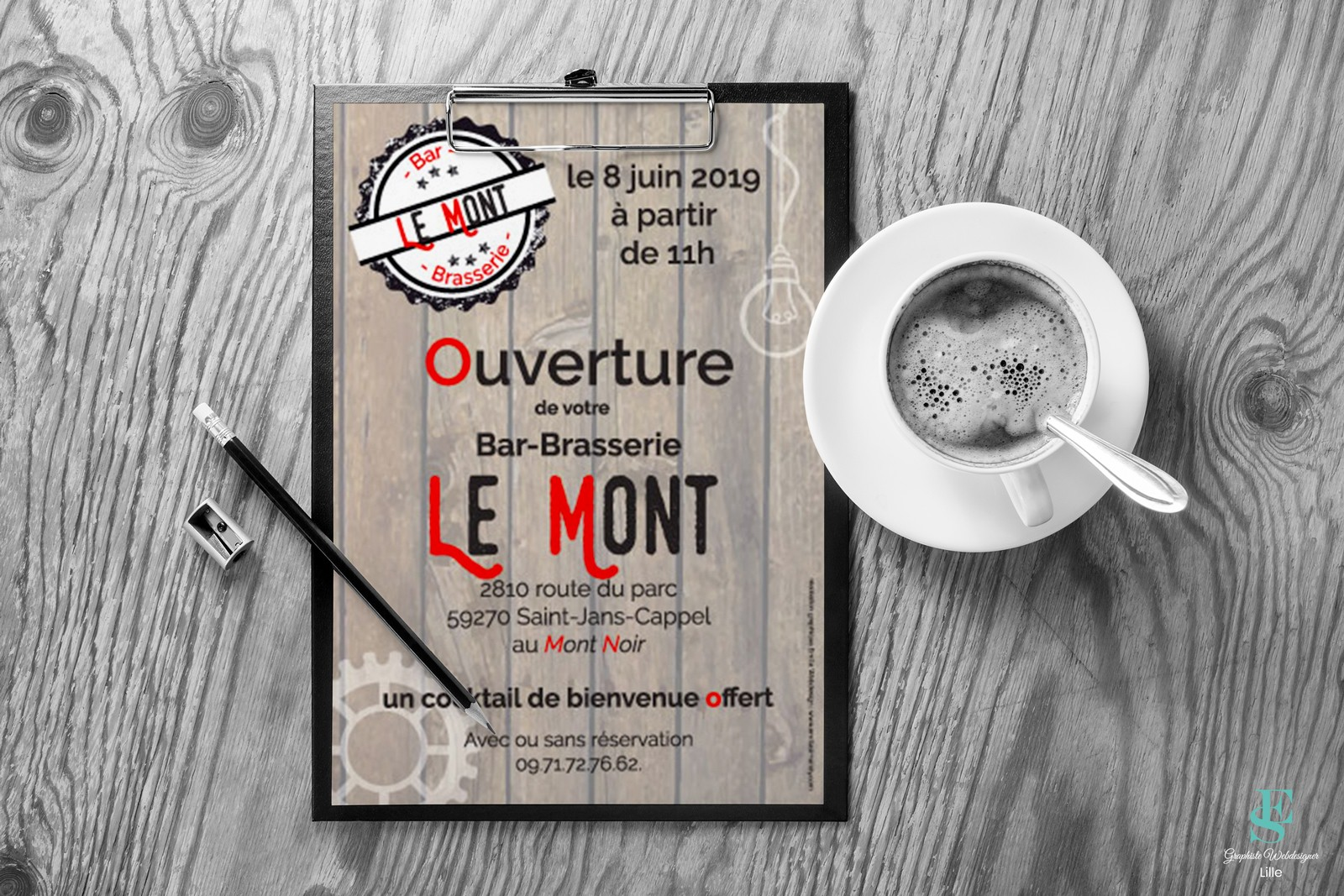 Flyer Bar Brasserie Le Mont