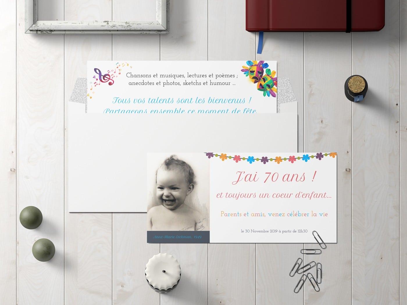 Carton d'invitation d'anniversaire