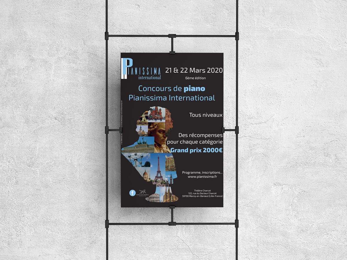 Affiche 2020 du concours Pianissima International