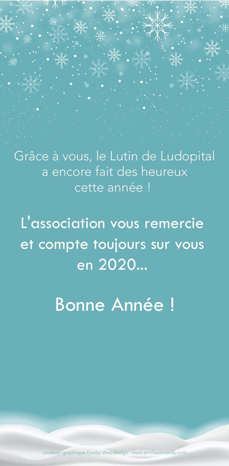 Carte de vœux Ludopital