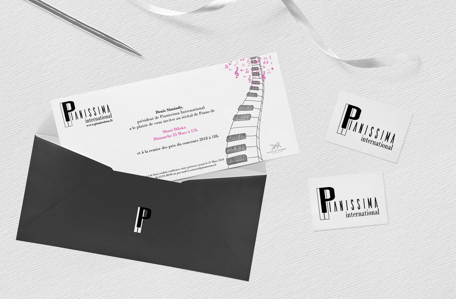Carton d'invitation Pianissima International