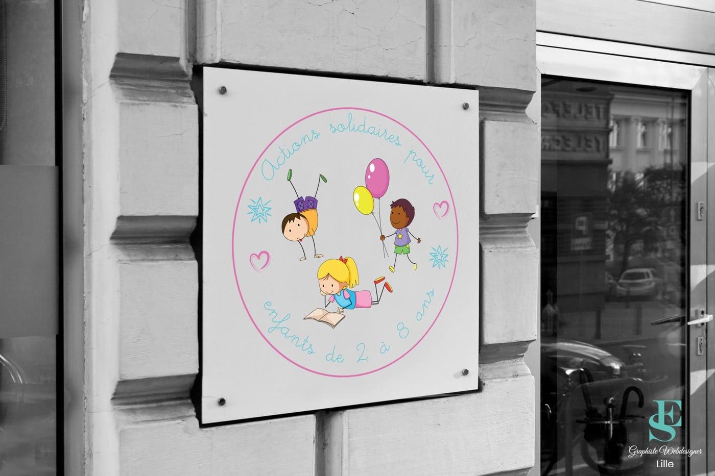 Logo Association Actions solidaires pour enfants de 2 à 8 ans