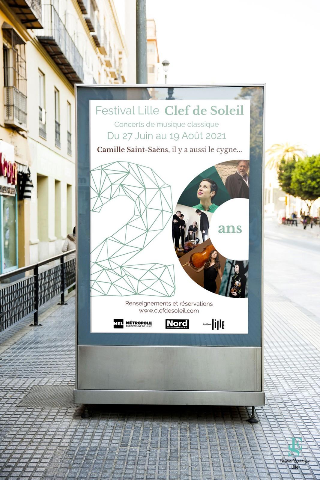 Affiche 2021 du Festival Clef de Soleil