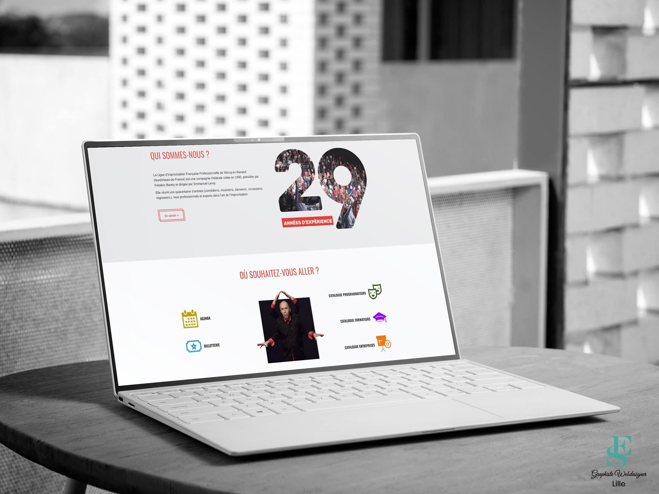 Site web de la Ligue d'Impro de Marcq
